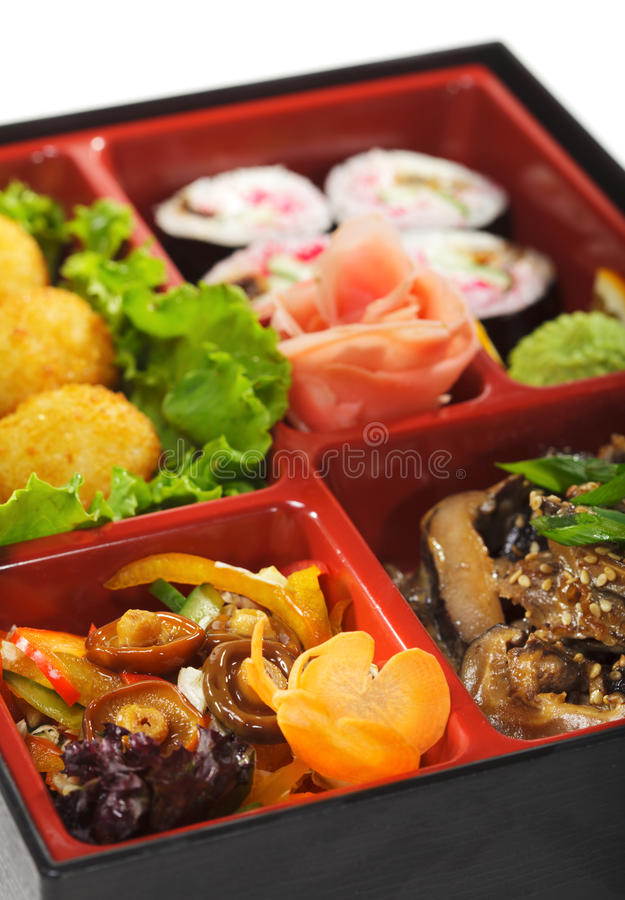 обед японца кухни bento стоковые фотографии rf