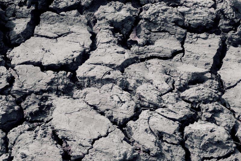 Обезвоженная земля от проблем глобального потепления в Таиланде стоковая фотография rf