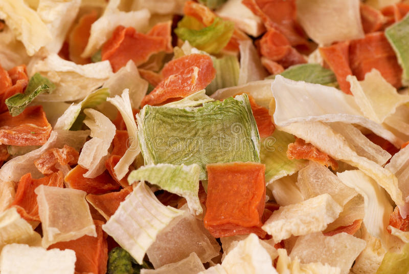 обезвоженные овощи стоковая фотография