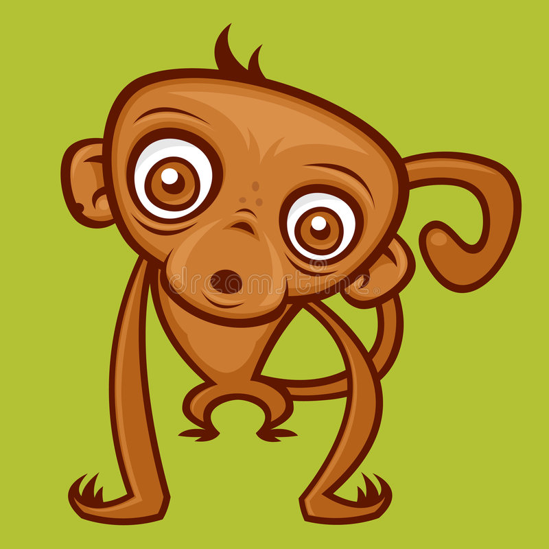 обезьяна младенца иллюстрация вектора