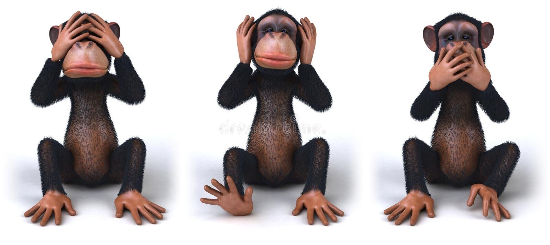обезьяна иллюстрация вектора
