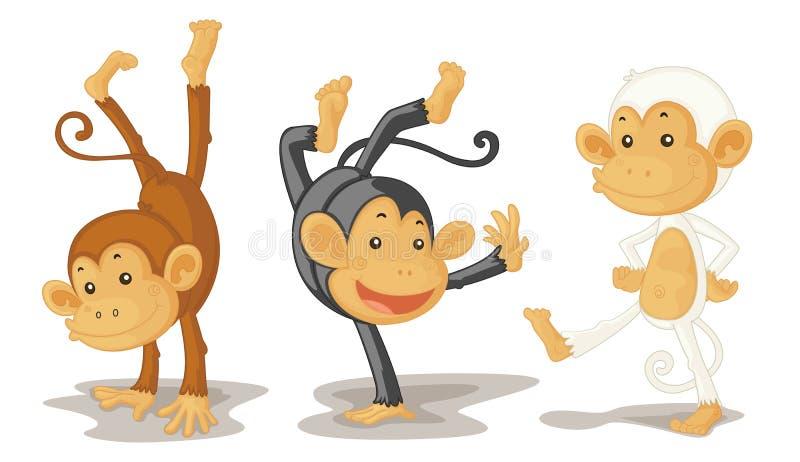обезьяны иллюстрация штока