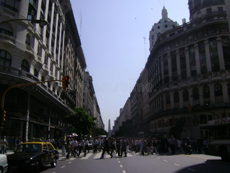 Обелиск Буэнос-Айрес Аргентины стоковое изображение rf