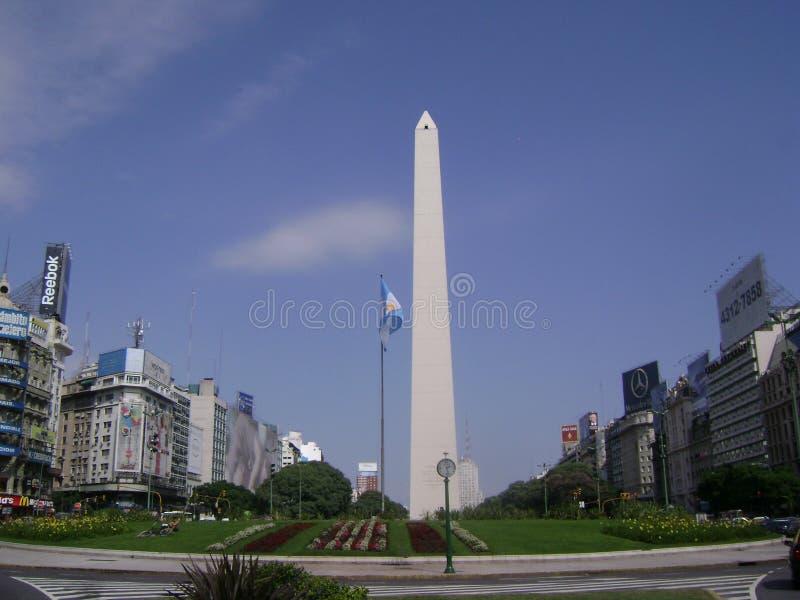 Обелиск Буэнос-Айрес Аргентины стоковые изображения rf