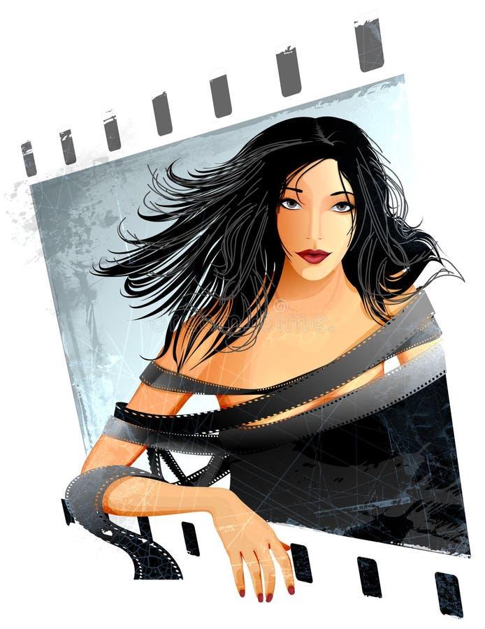 обернутая женщина пленки бесплатная иллюстрация