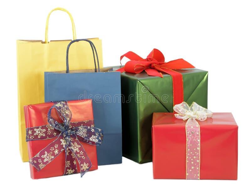 обернутые подарки стоковые изображения rf