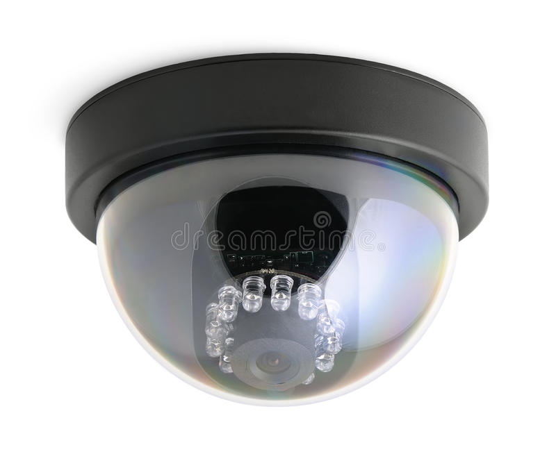 обеспеченность камеры изолированная cctv стоковая фотография rf