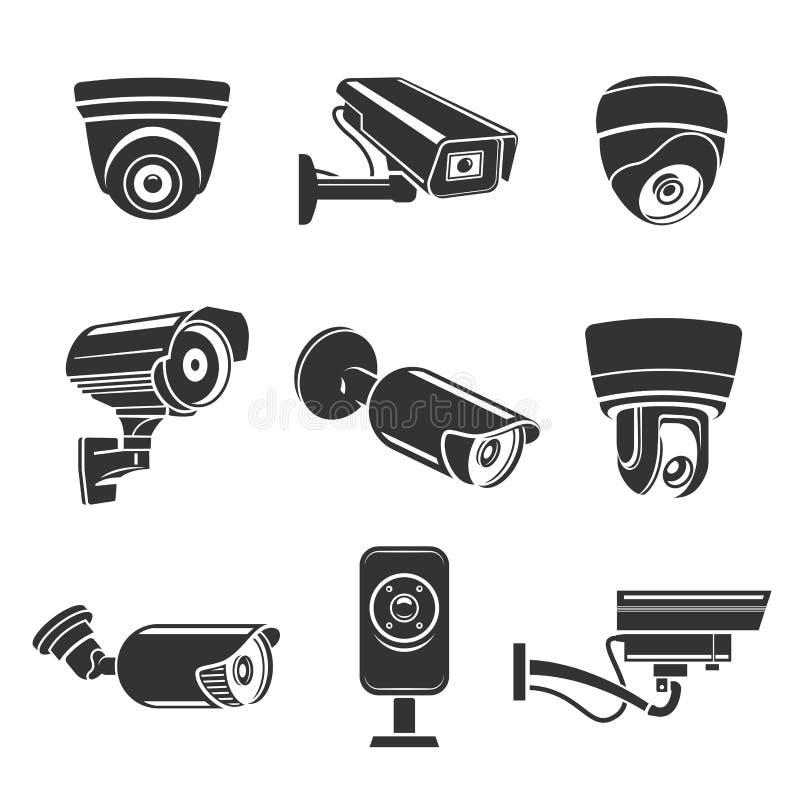 обеспеченность камер напольная иллюстрация вектора