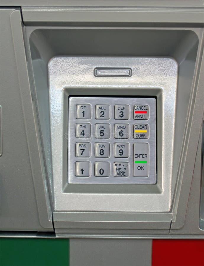 обеспеченность кнопочной панели шкалы принципиальной схемы банка металлическая стоковые фото