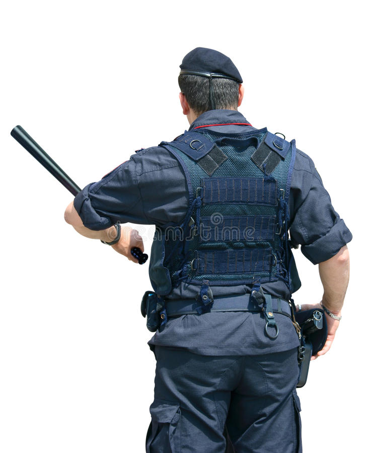 обеспеченность офицера стоковые фото
