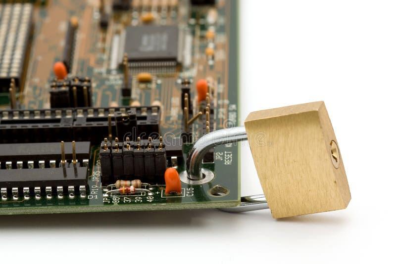 обеспеченность принципиальной схемы компьютера стоковые фотографии rf