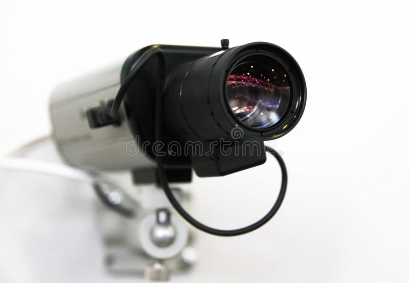 обеспеченность cctv камеры стоковая фотография