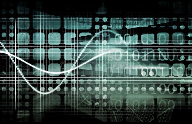 обеспеченность cyber иллюстрация вектора