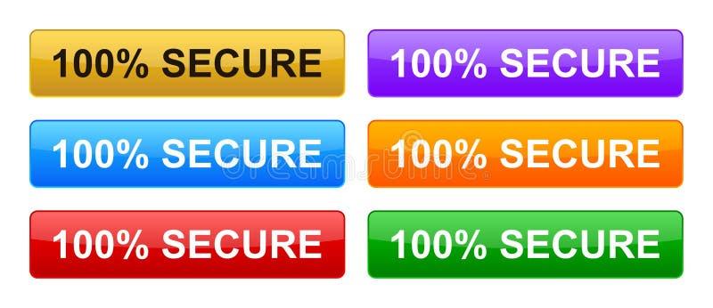100% обеспечивает кнопки бесплатная иллюстрация