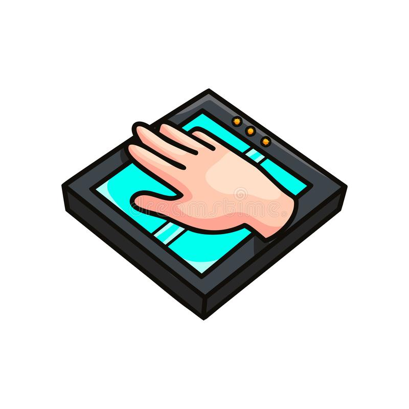 Обеспечивающее защиту приспособление развертки руки современное для офиса бесплатная иллюстрация