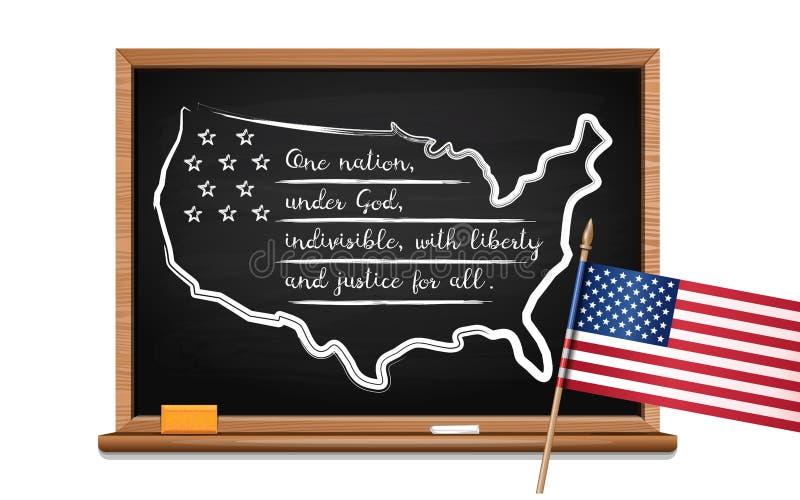 Обещание преданности Соединенных Штатов иллюстрация штока