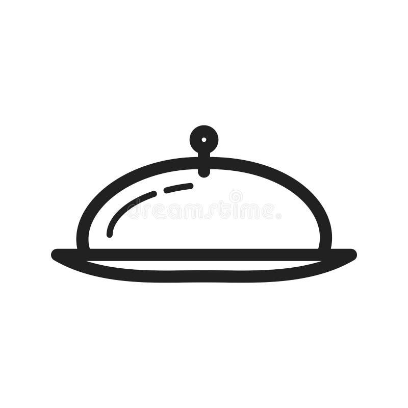 Обедающий подачи иллюстрация штока