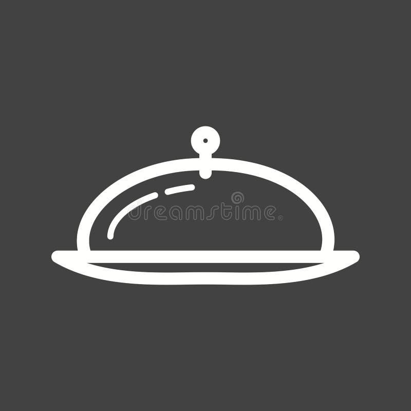 Обедающий подачи бесплатная иллюстрация