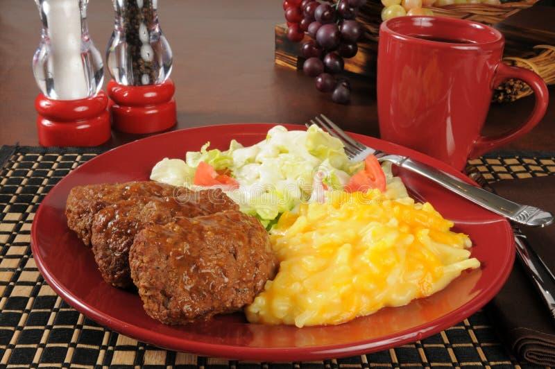 Обедающий Meatloaf стоковые изображения rf