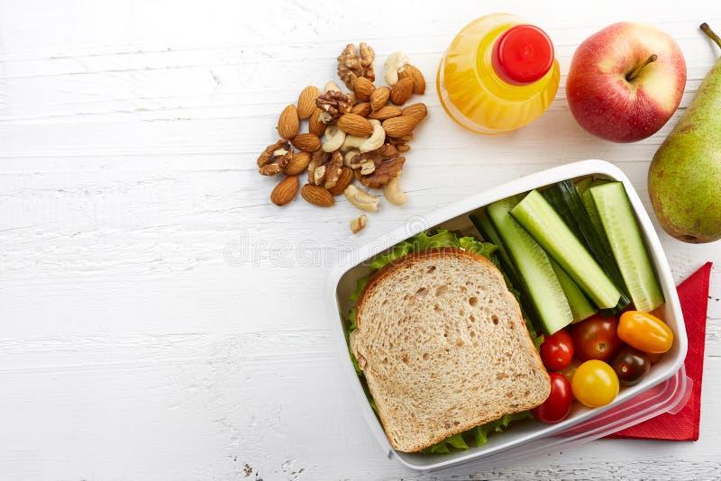 обед коробки здоровый стоковое изображение rf