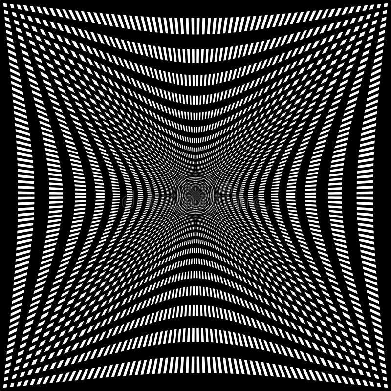 Download Обжатая решетка линий Абстрактная картина сетки Иллюстрация вектора - иллюстрации насчитывающей полость, lineal: 81810376