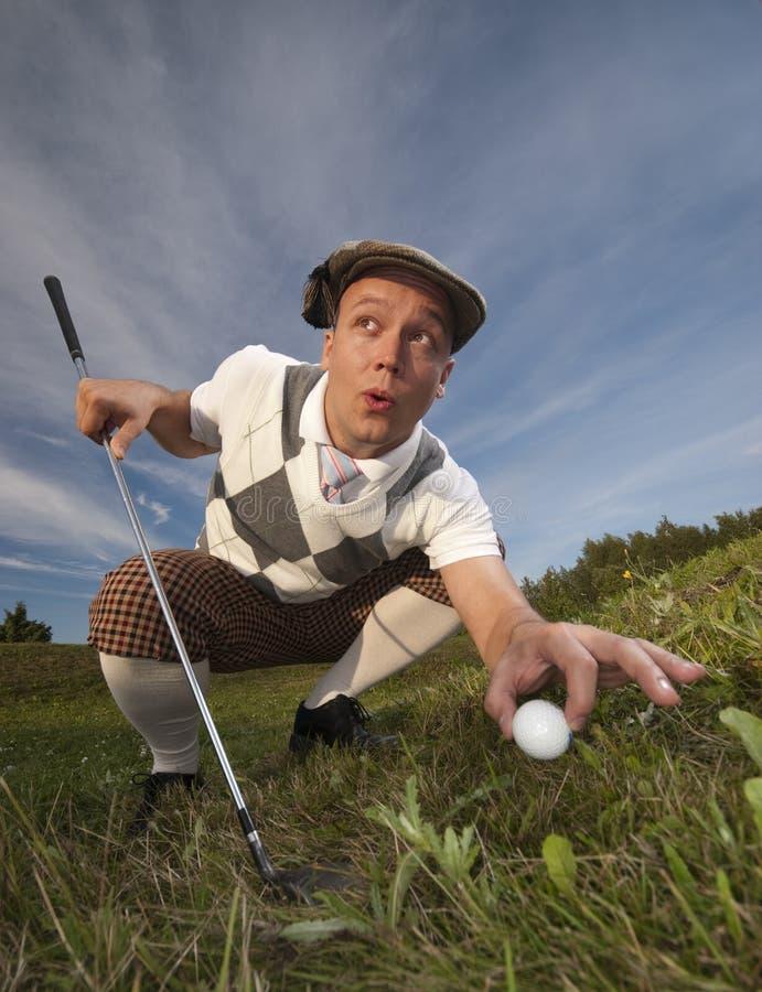 обжуливая игрок в гольф стоковые изображения