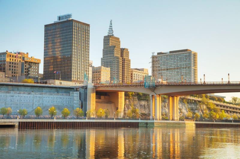 Обзор городского St Paul, MN стоковое фото rf
