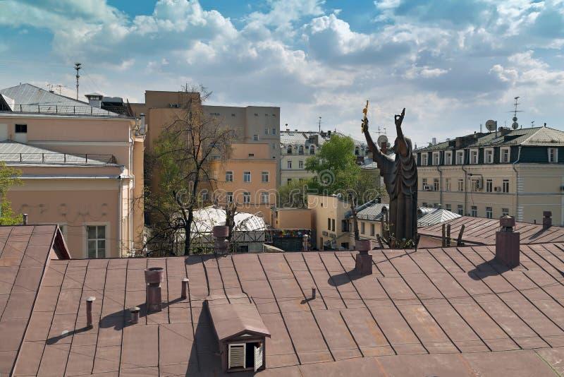 Обзор исторического центра Москвы, России стоковая фотография rf