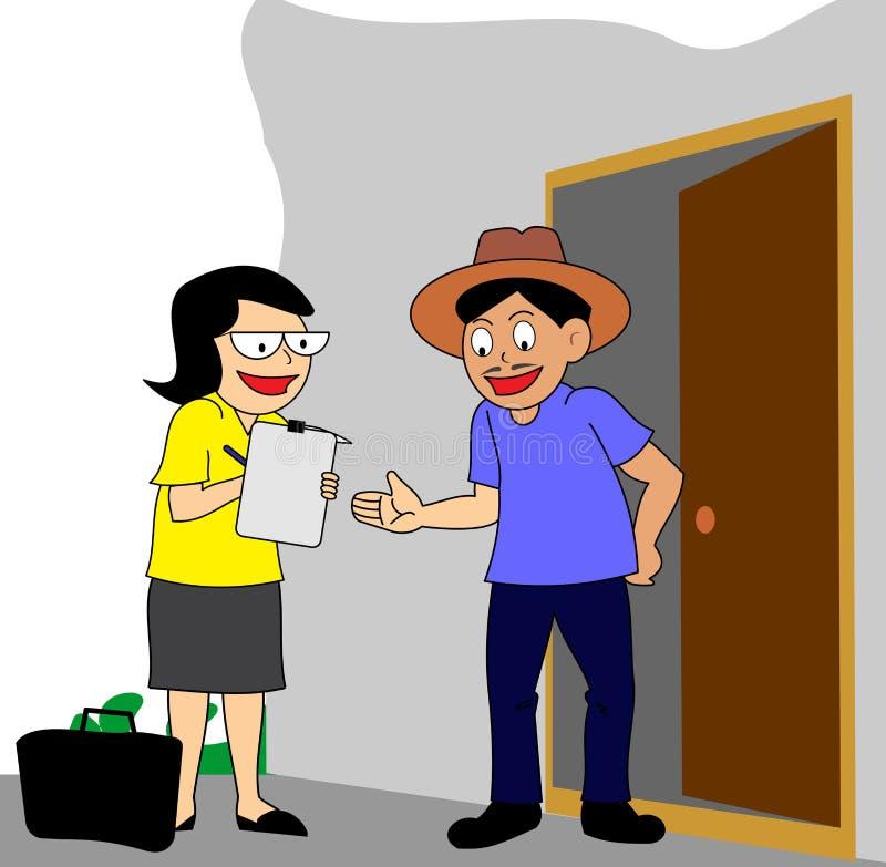 обзор или перепись маркетинга В-дома бесплатная иллюстрация
