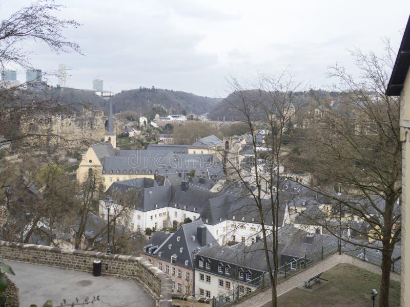 Обзор Люксембурга стоковая фотография
