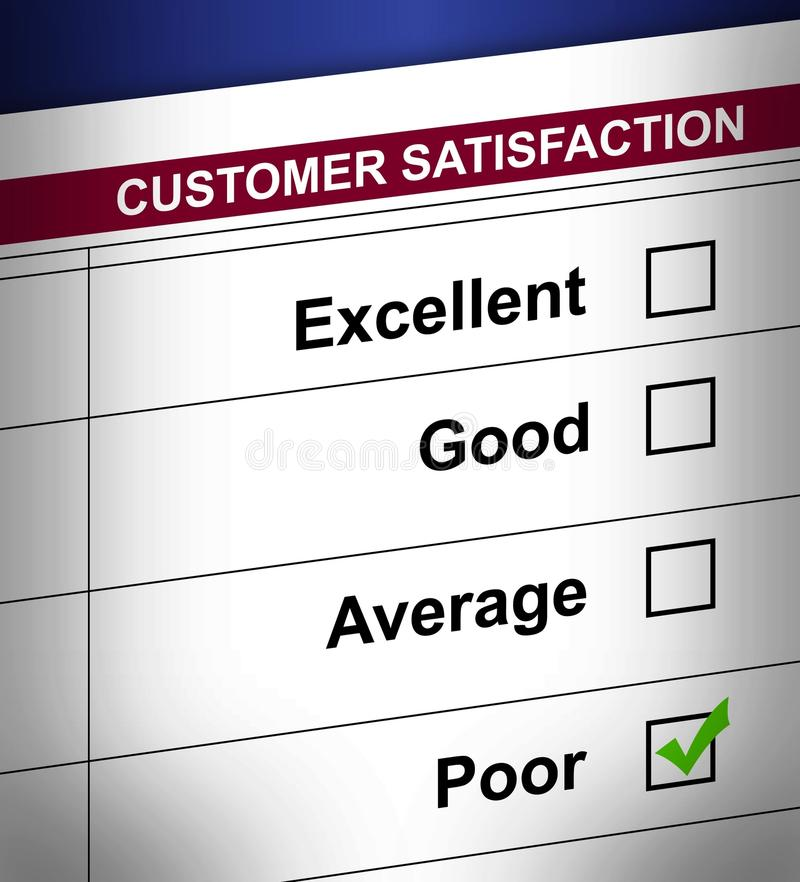 обзор обслуживания клиента плохой ужасный бесплатная иллюстрация