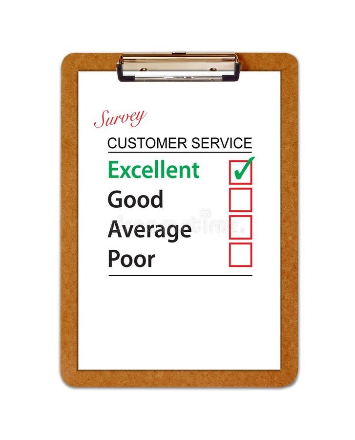 обзор обслуживания клиента clipboard иллюстрация штока