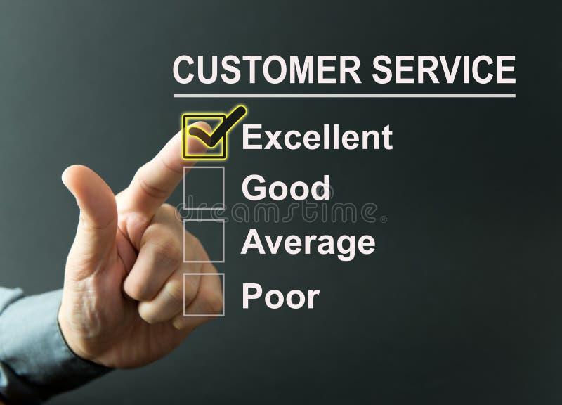 Обзор обслуживания клиента стоковые фото