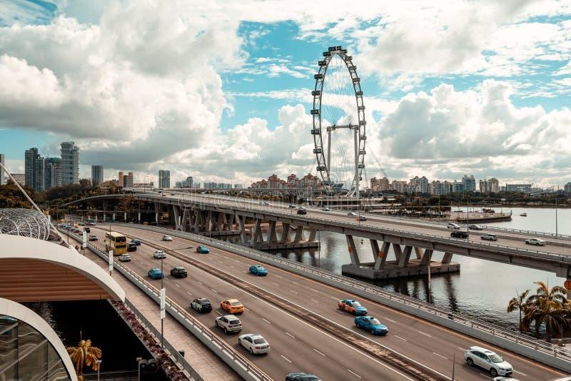 Обзор рогульки Сингапура стоковое фото rf