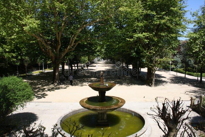 Обзор цитадели парка источника стоковое фото rf