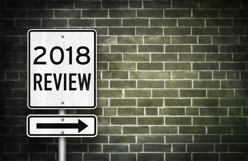 Обзор 2018 стоковые фото