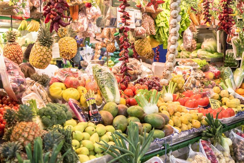 Обилие фруктов и овощей стоковое фото rf