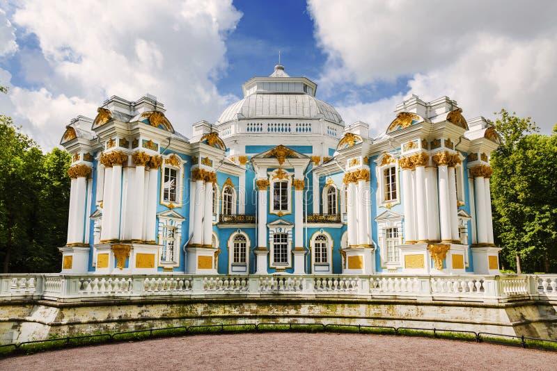 Обитель павильона в Tsarskoe Selo Санкт-Петербург, стоковое фото