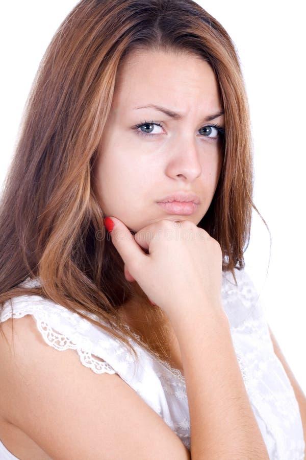 Обиденная молодая женщина стоковые изображения