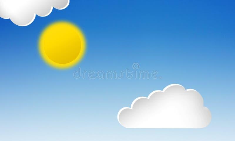 облака белизны 3d иллюстрация вектора