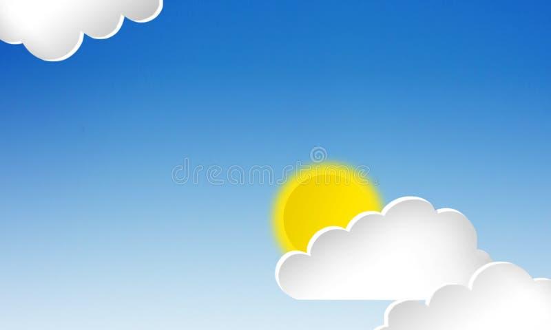 облака белизны 3d иллюстрация штока