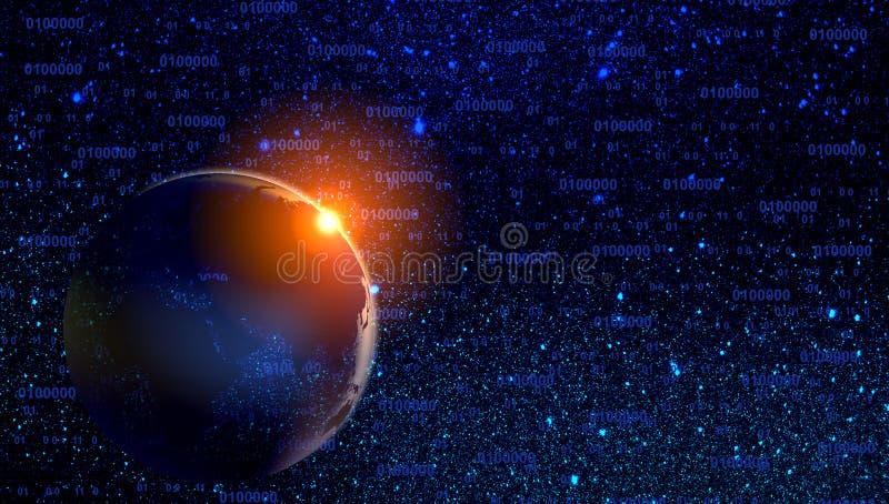 Облака и планеты звезд межзвёздного облака галактики вселенной предпосылка концепции технологии иллюстрация штока