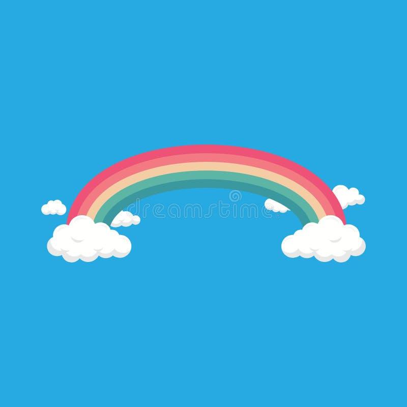 Облака и радуга иллюстрация штока