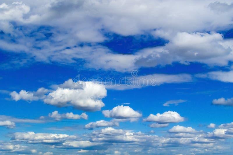 Облака красивого кумулюса белые на предпосылке голубого неба стоковая фотография