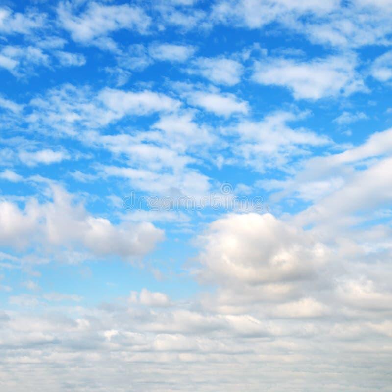 Облака кумулюса в голубом небе стоковое изображение