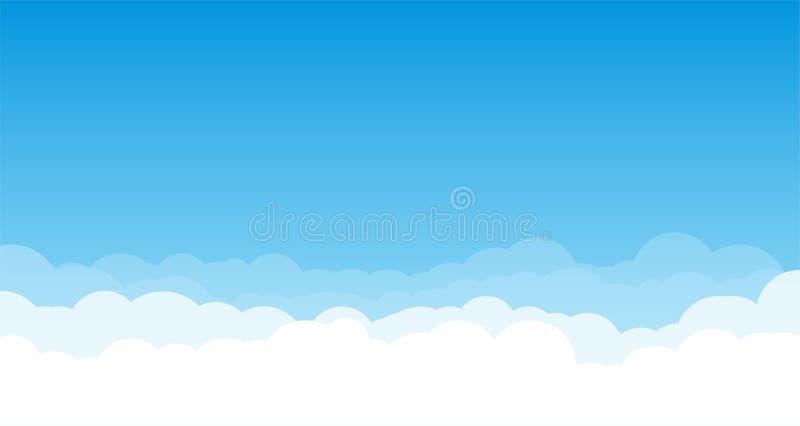 Облака на голубом небе иллюстрация вектора