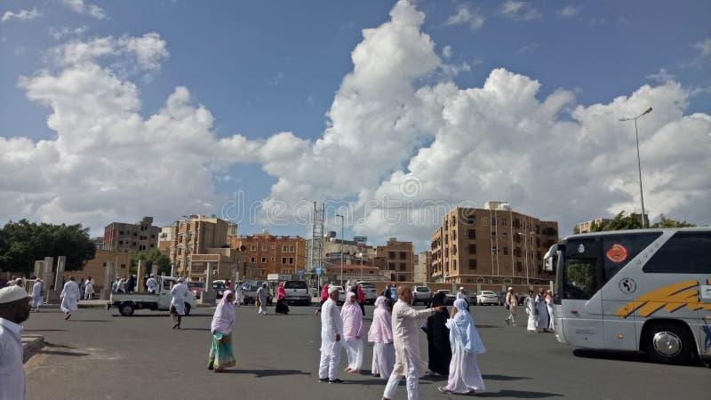 Облака на максимуме в жителе Саудовской Аравии стоковое фото rf