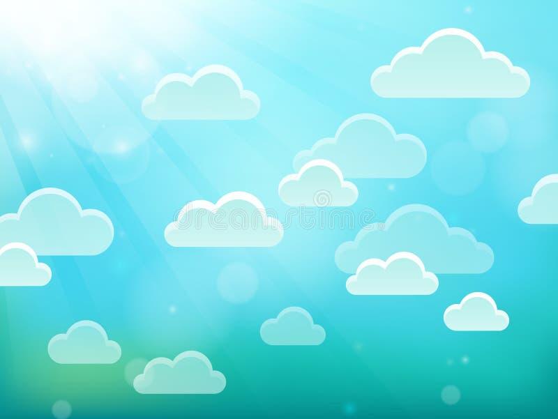 Облака на теме 4 неба иллюстрация штока