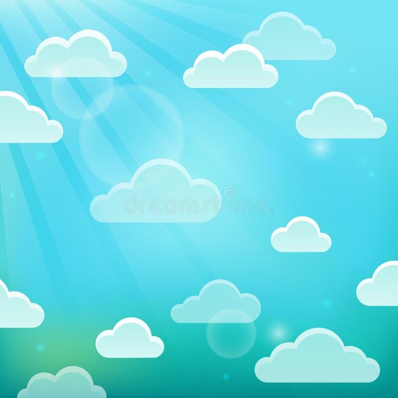 Облака на теме 5 неба бесплатная иллюстрация