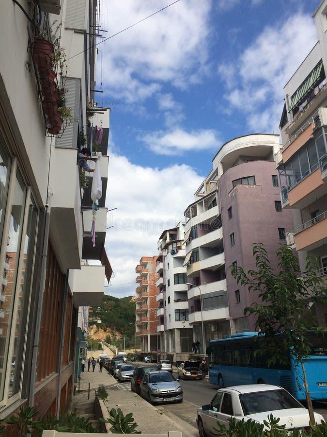Облака неба зданий стоковое изображение